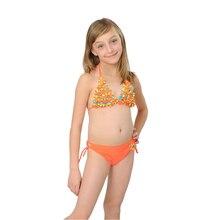 2016 Latest Cute Baby Bikinis Children s Swimwear Cute Flower Kid Bathing Suit Sexy Halter Floral