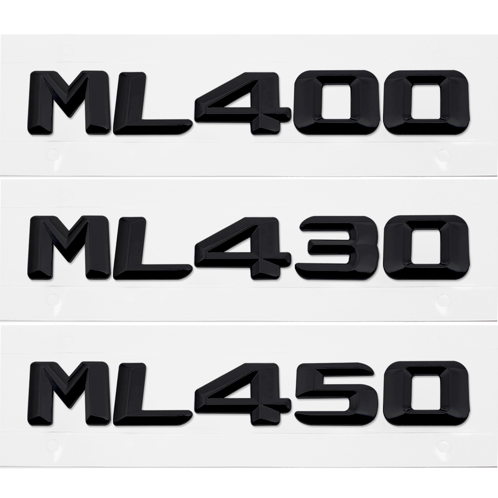 Genteel For Mercedes Benz Ml Class Ml400 Ml430 Ml450 W163 W164 W166 Car Styling Discharge Capacity Refitting Emblem Sticker Accessories Car Stickers Automobiles & Motorcycles