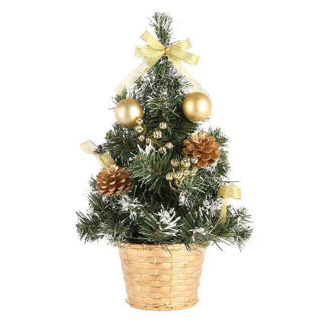 Mini Artificial Christmas Tree Ornaments PVC Craft For