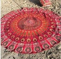 Diameter:140 cm 7 Types Portable Beach Towel India Mandala Wall Hanging Bed Manta Yoga Mat Blanket Camping Mattress Sleeping Pad
