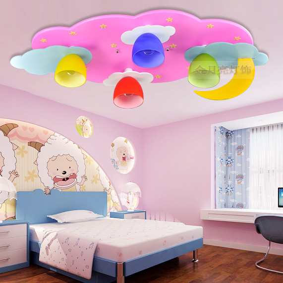 Captivating Cartoon Childrenu0027s Room Lamp Led Ceiling Lights Kids Boys And Girls Bedroom Room  Light Pink Blue Lighting Lamps