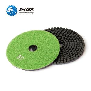 "Image 5 - Z LION 7 Pieces 4"" Diamond Polishing Pads Wet Use For Black Granite Quartz Artificial Stone Diamond Sanding Disc Grinding Wheels"