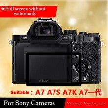 Закаленное Стекло Экран протектор для Sony A7 a7s A7R A7K Камера Плёнки закаленное Плёнки ilce-7 все черные края ООН- водяной знак ЖК-дисплей Экран