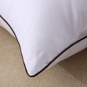 Image 2 - Oreiller élastique de qualité supérieure, 2 pièces, oreiller blanc à lintérieur du cou, soins de santé, oreiller à mémoire pour le lit