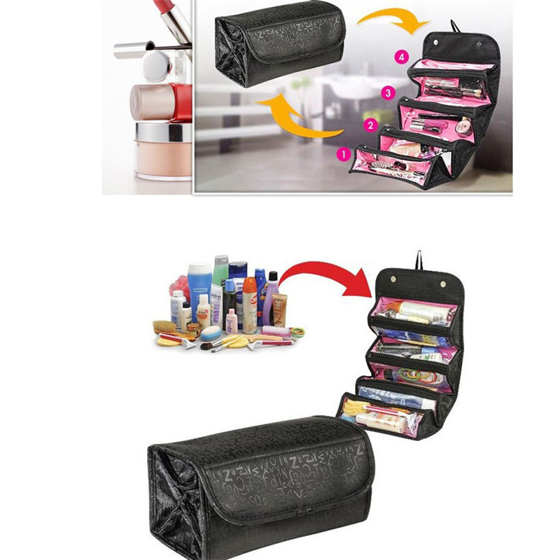 Travel Cosmetic Bag Women Zipper Make Up Bag High Capacity Makeup Case Handbag Organizer Storage Wash Bath X
