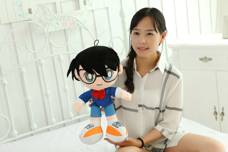 Anime Case Closed Detective Conan Plush Toy Soft Stuffed Doll 13/'/' High Quality