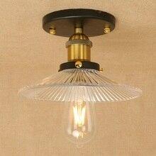 IWHD, Luminarias de hierro Para teto, accesorios de iluminación de techo, lámparas de techo de vidrio Vintage Para sala de estar, Plafondlamp