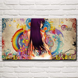 FOOCAME Monogatari Series Anime Girls Art Silk Posters and Print Home Decoration Wall Pictures For Living Room 20x36 Inches(China)