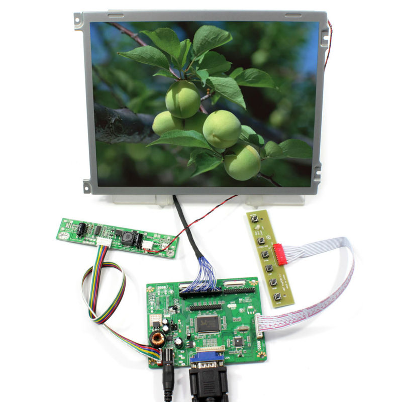 VGA signal input lcd controller board B RTMC7CA 10 4inch AA104VH01 640x480 LED backlight Lcd Panel