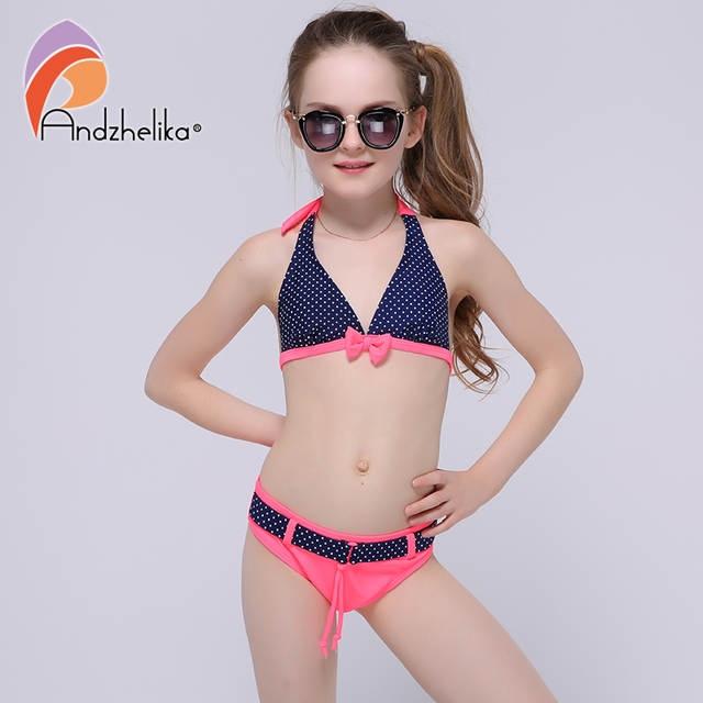 3b3a234ffb763 placeholder Andzhelika Swimsuit for girls 2018 Summer Girls Bikini Cute Bow Children  Swimwear Children Girl Swimming Suit