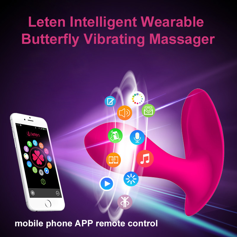 Leten Bluetooth Connect Intelligent App Remote Control Wearable Butterfly Vibrator G-Spot Clitoral Vibrator Sex Toys For women leten smartphone app remote control sarah rabbit vibrators bluetooth connectivity waterproof sex toys for woman