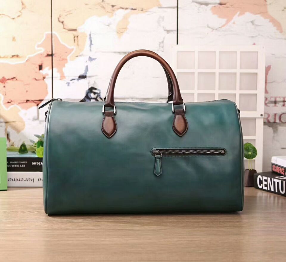 Hot Luxury Handmade Italian venezia Jour Off Leather Travel Bag Holdall Duffle leather luggage for men vintage italian suitcase anaph holdall men s italian leather weekender travel duffle bags fit 17 laptop cabin bag carry on luggage in coffee