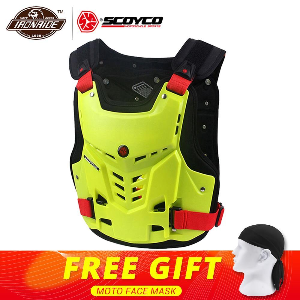 SCOYCO мотоцикл броня Жилет Мотоцикл грудь Защита спины снаряжение Мотокросс Броня гоночный жилет мотоцикл протектор оборудование
