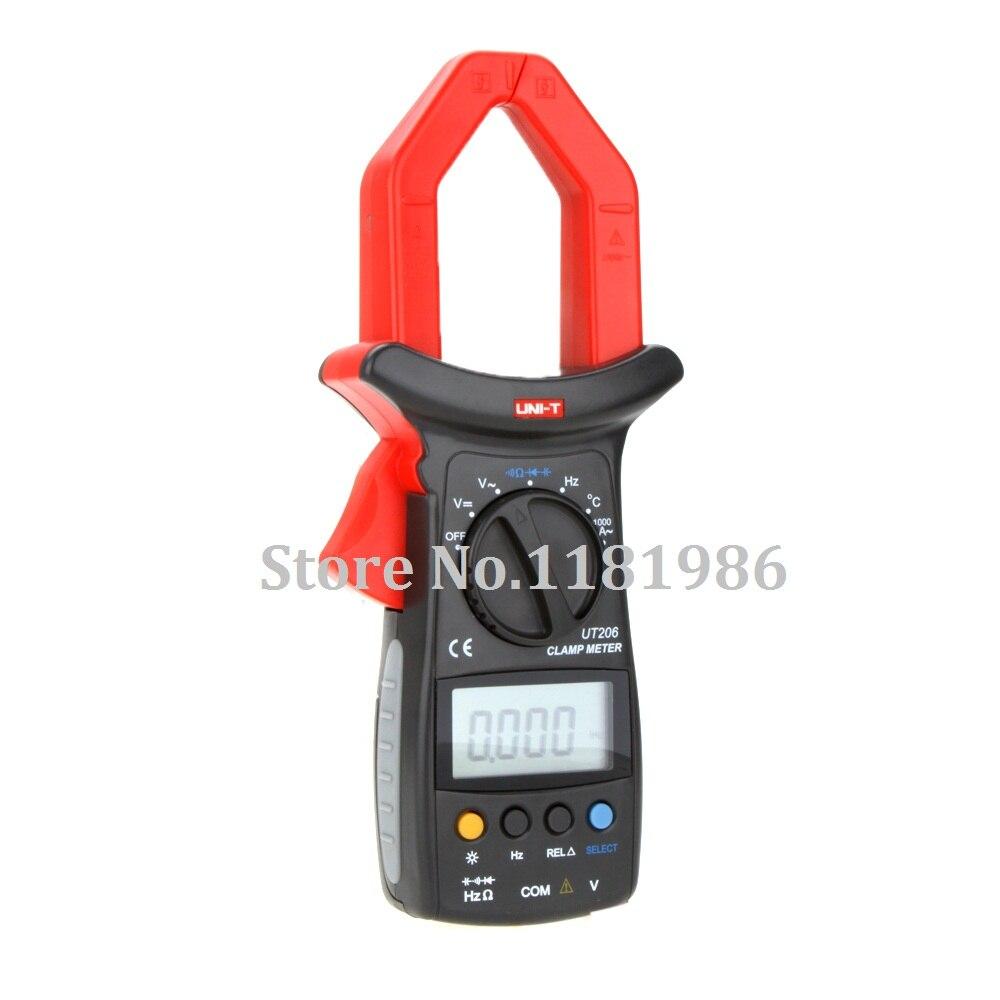 UNI-T UT206 Multimetro Professional W/ Temperature Test LCR Meter 3999 Count Auto Range DMM Digital Clamp Multimeters  цены
