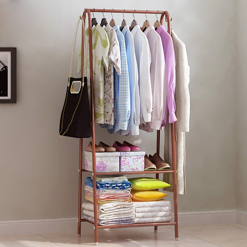 Coat Stand Space Saving Hanger Clothes Storage Coat Rack Stand Organizer Shoes Shelves Living Room Clothes Rack Stand