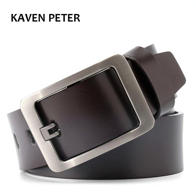Men Belt Genuine Leather Luxury Strap Male Belts For Men Buckle Fancy Vintage Jeans Cintos Masculinos Ceinture Homme