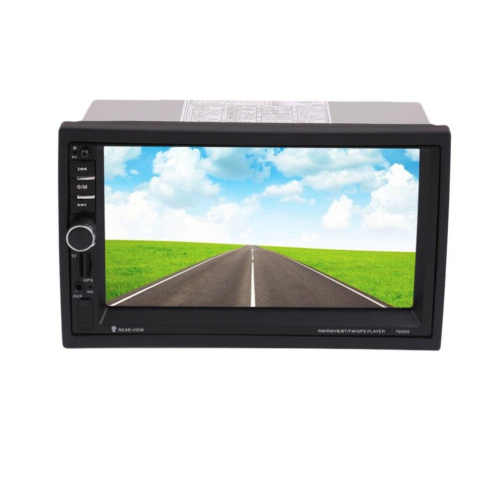 imágenes para Nueva Llegada 7020G Bluetooth Car Audio Estéreo Reproductor de MP5 sin Cámara de Vista Trasera de 7 pulgadas de Pantalla Táctil de Navegación GPS FM función