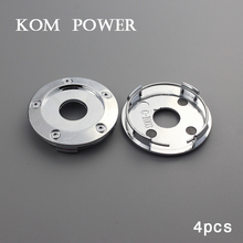 KOM 4pcs 65mm chrome without logo wheel centre cap hubcaps center covers no sign emblem enjoliveur roue clip 62mm KP656244