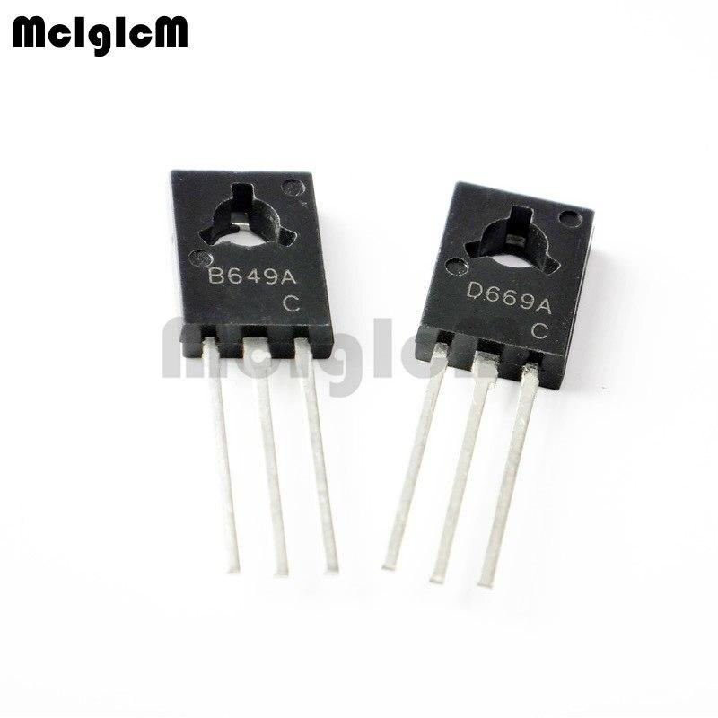 10PCS (5pcs B649 2SB649 + 5PCS D669 2SD669) TO-126