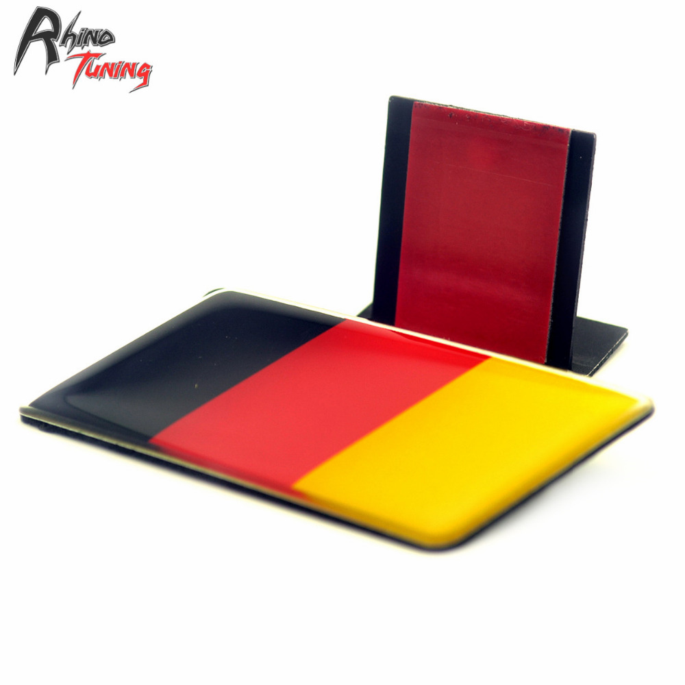 Rhino Tuning High Quality Germany Flag Car Front Grill Emblem Sticker Styling Grille Badge for Scirocco Tiguan Golf Jetta 699 front grille led emblem logo light 4 colors abs decorative grill lamp for f ord r anger t7 2016 2017 car styling