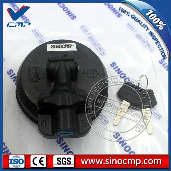 SINOCMP Excavator Fuel Tank Assy Fuel Cap 20Y-04-11160 for Komatsu PC300-8