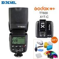 Godox TT600 2.4G Sem Fio GN60 Master/Slave Flash Speedlite Camera + Transmissor para Canon 800D 760D X1T-C 850D 200D 77D 7D 6D 5Ds