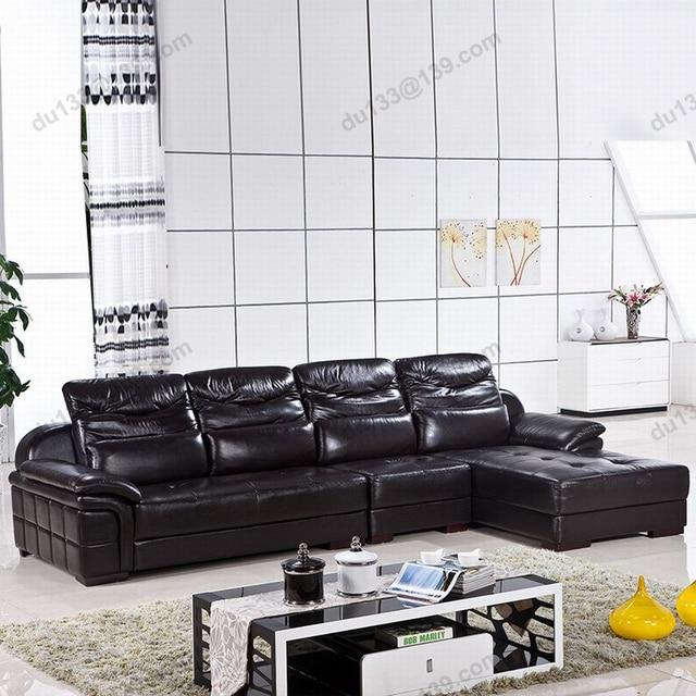 Big Modern Latest Novel Home Center Relax Black Corner Full Grain
