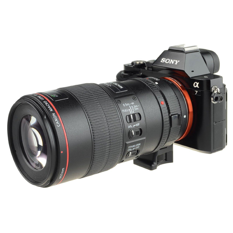 COMMLITE Auto-Focus Mount Adapter EF-NEX For Canon EF To For Sony NEX Mount A9 A7M3 A7R3 A7R2 A6500 A6400 A6300