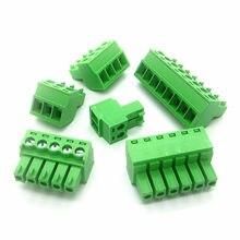 10 PCS KF2EDG 3.81 2 P/3 P/4 P/5 P/6 P/8 P Pluggable Terminal Block Conector 3.81 milímetros Pitch