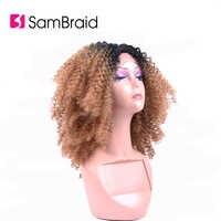SAMBRAID Verworrene Lockige Haar Für Schwarze Afro Synthetische Flechten Haar Perücken Spitze Front Perücken Für Frauen 14 zoll/200 g