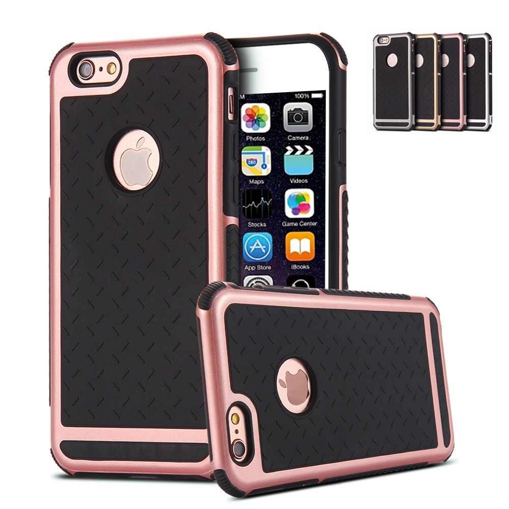 لابل iPhone6 حافظة مطاطية بولي يوريثان سيليكون صدمات الغطاء الخلفي للقضية أبل آيفون 6 6s 6G 4.7 بوصة المضادة للخبط جراب هاتف