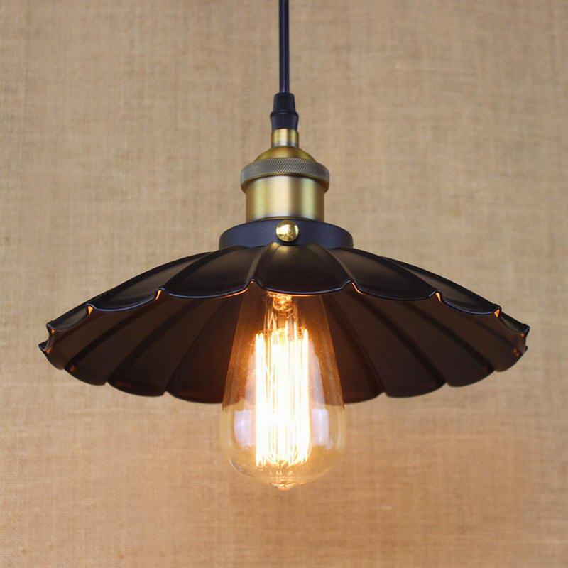 Edison Loft Style Vintage Industrial Retro Pendant Lamp Light E27 Holder Restaurant Bar Counter Attic Bookstore Lamp black white