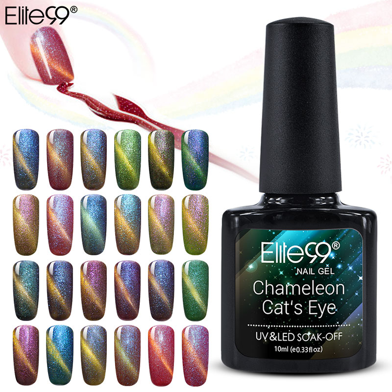 Elite99 Chameleon Cat Eye Gel Nagel 3D Magnetisk Gel Nagellack 24 - Nagel konst