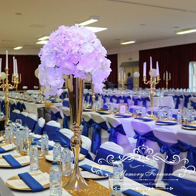 80cm Tall Wedding Flower Vase Metal Trumpet Vase For: 8pcs 75cm Wedding Vase Metal Trumpet Tall Gold Vases