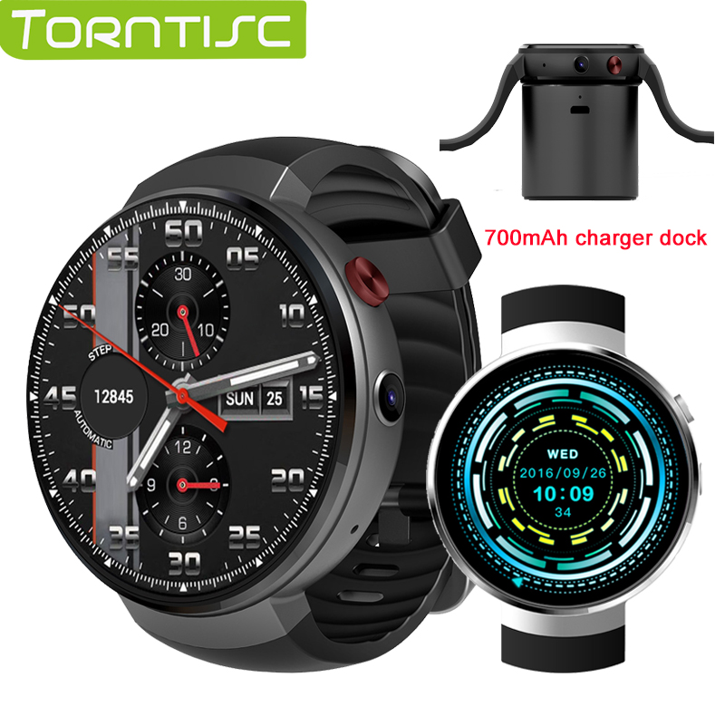 Torntisc Android 7.0 LTE 4G Smart Watch 1GB + 16GB Memory Support SIM card WIFI GPS Heart Rate Smartwatch 2MP Camera like LEM7