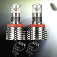 1 Pair 60W H8 Angel Eyes Halo Light LED Chips For BMW E92 E90 E89 E82