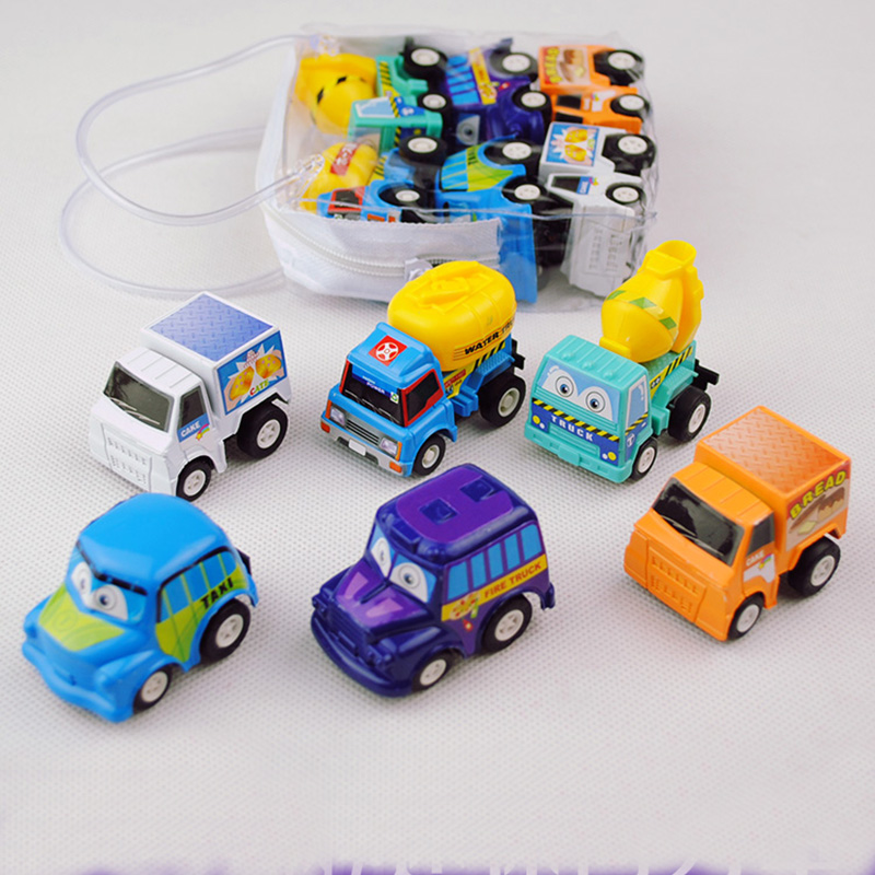 6pcs bus cars baby kids children garage toy set color random safety hotchina