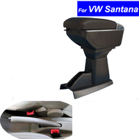 In pelle Per Auto Centro Bracciolo della Console Box per Volkswagen VW Santana 2001 2002 2003 2004 2005 2006 2007 ~ 2011 Auto braccioli con USB-in Braccioli da Automobili e motocicli su