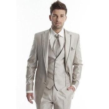 Suit Blazers  New Custom Made Tuxedo Men Wedding Suits Men Suits Suits for Men Two Buttons (Jacket+Pants+Vest+tie) A072