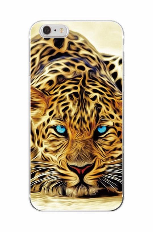 მოდა Lion Tiger პანტერა Leopard Soft Case Coque - მობილური ტელეფონი ნაწილები და აქსესუარები - ფოტო 4