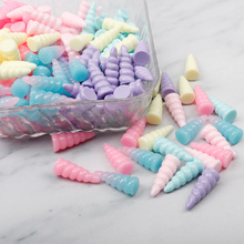IBOWS 9*25mm 6pcs resin unicorn horn charms for Jewelry necklace pendant making resin cabochons for DIY decoration Mixture Color lklrywbd popular color unicorn necklace unicorn round pendant necklace