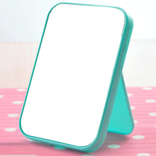 Fashion Square Folded Mirror Cute Portable Make Up Compact Mirror Girl Hand Plastic Makeup Mirrors Cosmetic SC86