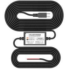 TAVIN Parking Cable Transformer For Car Dvr Dash Cam Monitor Wire 12V To 5V 2.5A Long 3 Meters Camera Video Recorder 24 Hours стоимость