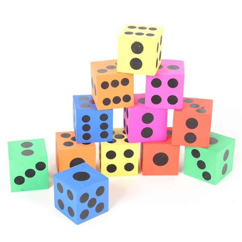 12 Pcs/set Combination Of Eva Magic Foam Dice Children Toys Educational Pop For Game Gaming Children Adult Gift Blocks Cubes
