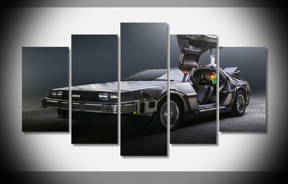 8049 Назад в будущее delorean суперкаров путешествие во времени Плакат оформлена галерея wrap art печать домашнего декора стены картину