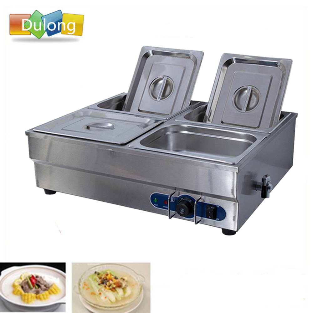 Commercial electric bain marie food snack machines soup pool heat preservation cooked food heating tools aluminum foil food heat preservation cover