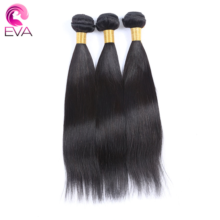 Straight hair perm products - Eva Hair Straight Brazilian Remy Hair Bundles 100 Human Hair Weaving 1pc Natural Color 8inch