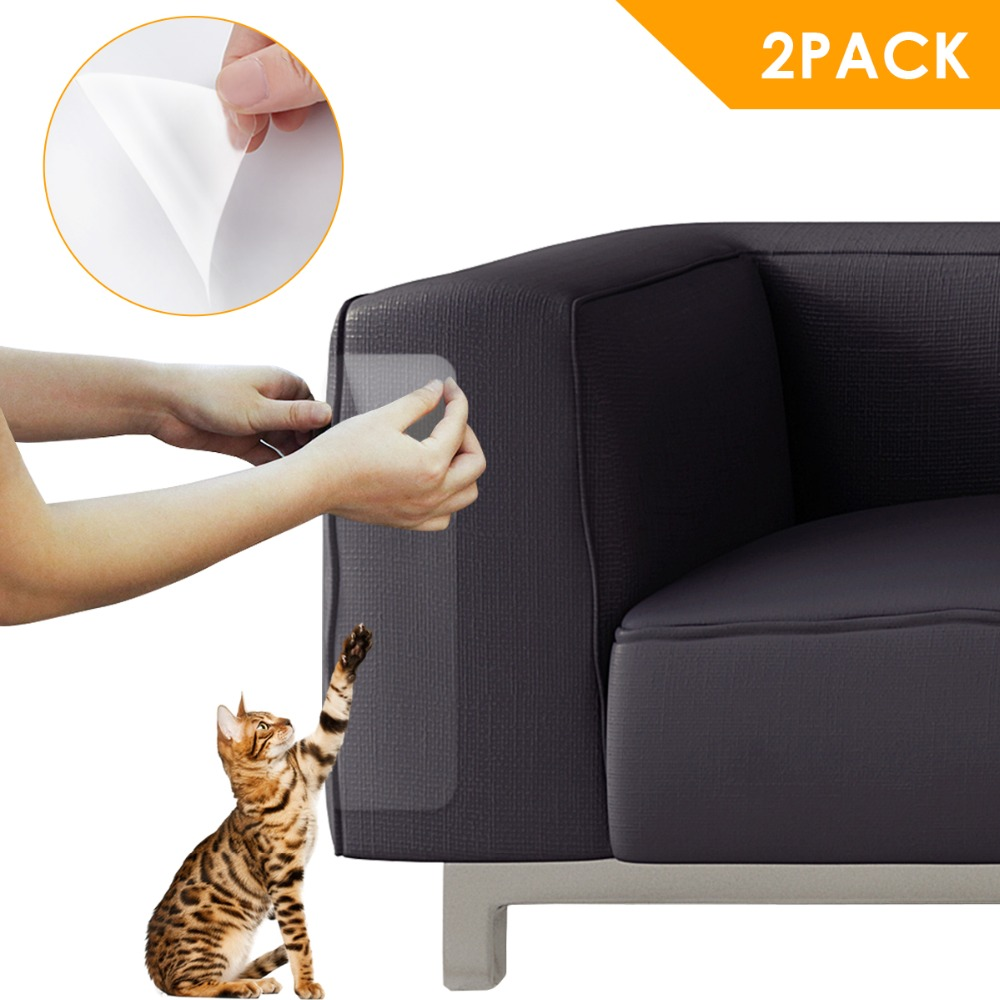 2pcs Pet Cat Sofa Door Anti-scratch Patch Couch Protector Ground Scraping Pads