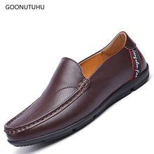 2019 fashion trend men's shoes casual leather slip-on loafers man shoe young office & driving platform shoes for men black brown стоимость