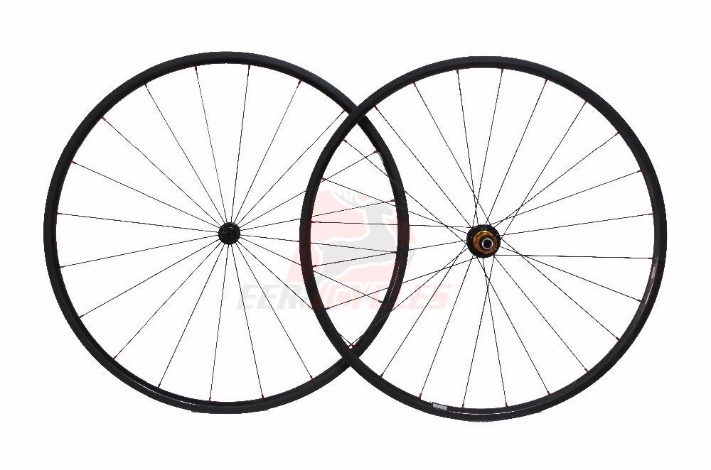 982g Super Light 700c 20mm Carbon Fiber Tubular Wheels Wheelset Road